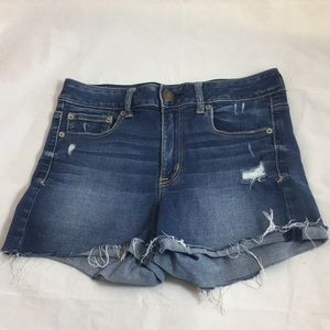 Super Stretch American Eagle shorts size 10 ripped